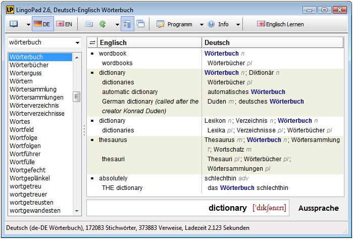 W rterbuch lingopad for Deutsch englisch translator