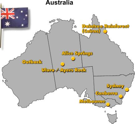 Karte Australien Englisch.Australien Rundreise Landeskunde Englisch