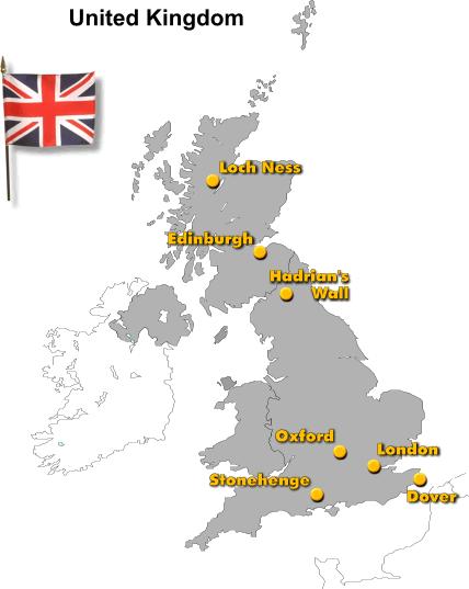 Loch Ness Karte.Großbritannien Rundreise Landeskunde Englisch